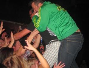 A Joey Fatone Spazmatics Piggyback Stage Dive